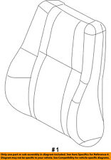 Jeep CHRYSLER OEM Front Seat-Cushion Cover-Top Back Left 5PJ47HL1AC