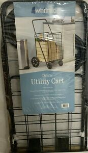 DELUXE Utility Rolling Cart By Whitmor Black 21 x 24.5 x 40.12""