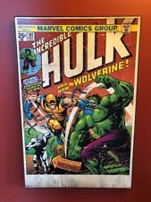 """THE INCREDIBLE HULK and The Wolverine Art Print FRAMED MARVEL COMICS 36"""" x 24"""""""