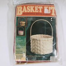 Jadvick Basket Making Kit Traditional Round With Handle