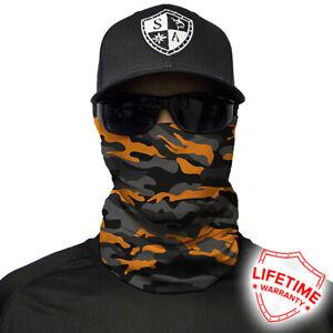 SA Salt Armour Orange & Grey Military Camo Face Shield. Buy 2 Get 1 Free!!