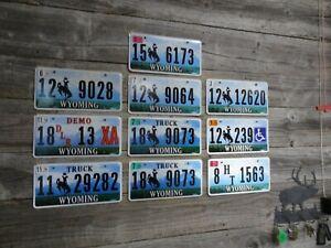 Wyoming License Plate bulk lot bucking horse All Original license plates!!!!!!!!