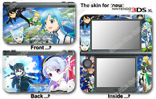 Sword Art Online Lost Song Skin Sticker Cover Decal #1 for NEW Nintendo 3DS XL