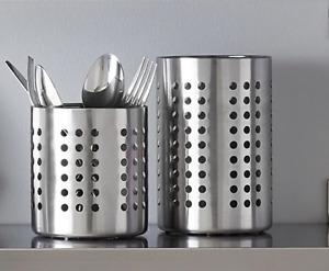 ORDNING Stainless Steel Cutlery Stand Kitchen Sink Tidy Drainer Utensil Holder