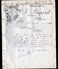"""VALLON-en-SULLY (03) USINE de TUYAUX en ciment & MATERIAUX """"J. PAYARD"""" en 1910"""