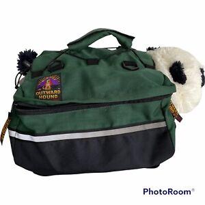 Outward Hound Saddle Bags Daypack Dog Backpack Green Medium