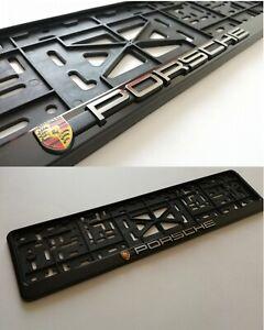 """""""PORSCHE"""" LUX HOLDER FOR EU EURO EU PLATFORM EURO LICENSE PLATE For all Cars"""