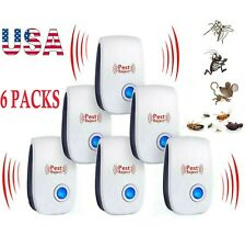 USA 6 PACK Ultrasonic Pest Repeller Reject Mice Insect Mosquito Cockroach Killer