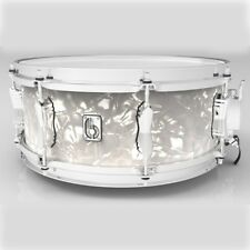 """British Drum Company 14"""" X 6.5"""" Lounge Series Snare Drum, Windemere Pearl"""