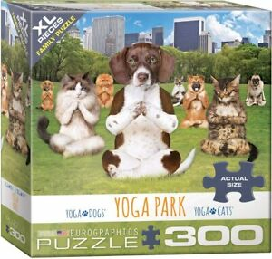 EuroGraphics Dogs and Cats Yoga Park Jigsaw Puzzle (300-Piece)