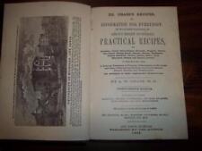 1866 CIVIL WAR HOME FARM RECIPES, ANTIQUE COOKBOOK BLACKSMITH PIONEERS, MEDICAL