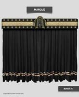 Saaria Marque Velvet Home Theater Stage Movie Theater Curtains 12'W x 8'H Black