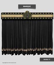 Saaria Marquee Velvet Home Theater Stage Curtains 12'W x 8'H Black Custom Logo