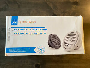 """JL Audio Marine Boat Stereo 6.5"""" Coaxial Speakers 6 1/2"""" White Classic Grille Pr"""