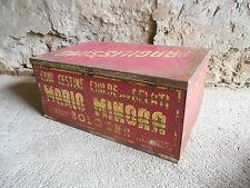 CONTENITORE CONI GELATO MARIO MINORA BOLOGNA scatola in  latta pubblicitaria
