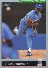 068   TOM GORDON    KANSAS CITY ROYALS  BASEBALL CARD LEAF 1992