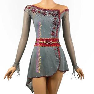 Stylish Ice Skating Dress.Figure Skating Competition Dress.Twirling Baton Custom