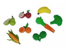 7x Gemüse Obst Set Miniblings Gummi Lebensmittel Figur Garten Essen Vitamine