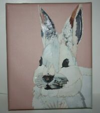 """Pier 1 Imports Easter Pink Bunny Picture Nwt Size:10""""x8"""""""