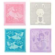 Country Club Set of 4 Animal Face Cloths Childrens Wash Cloth Bath Time Animals