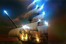 LED Bild Bilderrahmen 65 x 45 cm Leuchtbild Wandbild SCHIFF / Samarkand-Lights