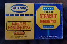 "Vintage Aurora Model Motoring 5"" Straight Tracks In Box - #1515"