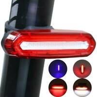 6 Modes LED Tail Lamp Bike Bicycle Cycling USB Rechargeable Front Rear Light