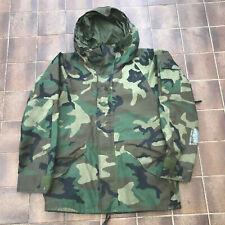 Genuine US Army Woodland Camo ECWCS Gortex Jacket Size Medium Regular