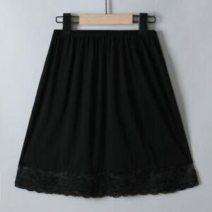 Women Lace Modal Petticoat Half Slips Skirt Underskirt Under Dress Soft