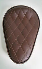 Custom Solo Seat Brown Diamond to fit Harley Bobber Chopper Yamaha
