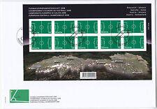 Schweiz 2008 - Mi. 2044 Fussball EM in A und CH kleinbogen auf FDC