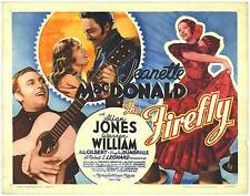 THE FIREFLY original MGM 22Xx28 movie poster JEANETTE MACDONALD/ALLAN JONES