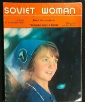 SOVIET WOMAN Propaganda Magazine - April 1975 - COLD WAR / Russian Women /