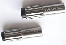 2 X Argento/Grigio Canna Di Regolazione Del Cavo-Adatto per 4 o 5 mm