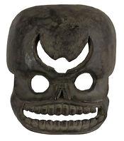 Maschera Citipati Testata Da Morto Legno - Himalaya-Animista Sciamano Tim E