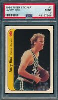 1986 Fleer Set Break # 2 Larry Bird Sticker PSA 9 MINT *OBGcards*
