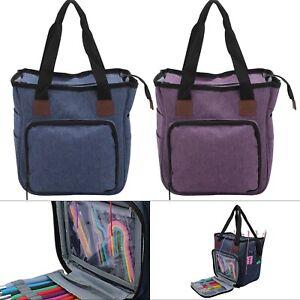 Knitting Storage Bag Wool Tote Crochet Hook Needles Accessories Organiser Holder