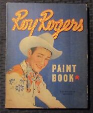 1944 ROY ROGERS Whitman Paint Book Coloring Book VG/FN 5.0 Uncolored