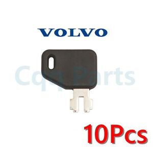 10pcs Fits Volvo Excavator Plant Digger Battery Isolator Key 14588962