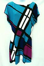 ST JOHN Collection Womens Retro Geometric Plaid Thin Knit Sweater Dress 12 L