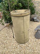More details for ww2 empty gas mask storage tin / carrier original