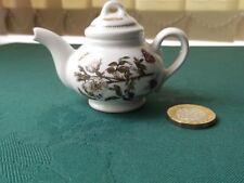 Portmeirion Botanic Garden Miniature Teapot 5.5 cm Ornament Dog Rose RARE VGC