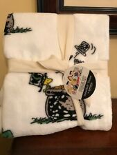 Peanuts ~ Snoopy & Woodstock St Patrick's Day Fleece Throw Blanket