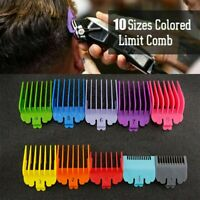 Premium Hair Clipper Limit Cutting Guide Comb Guards Tool 10PCS/Set For Wahl