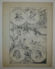 BRETAGNE - LA CITE des CORSAIRES - SAINT-MALO DESSIN du XIXème par DU FRESNES