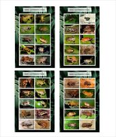 2020 RAIN FROGS  8 SOUVENIR SHEETS MNH UNPERFORATED AMPHIBIANS FROG