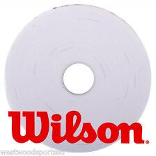 WILSON PRO OVERGRIP WHITE (15 PACK) TENNIS,  BADMINTON, RACQUETBALL, RACQUETGRIP