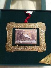 "Baldwin 24 KT. Gold Finished Ornament ""Snowy Church"""