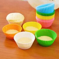 12 x Neu Silikonform Silikon Mould Muffin Cupcake Runde Form Kuchen Neu
