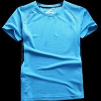 Summer Casual Mens Shirt Short Sleeve Sports T-shirt Round Neck Dry Quick Size
